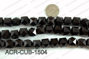 Acrylic Cube Pointed Surface Black 15mm ACR-CUB-1504