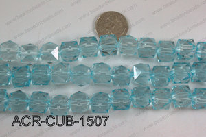 Acrylic Cube Pointed Surface Light Blue 15mm ACR-CUB-1507