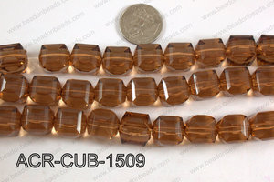 Acrylic Cube Plat Surface Brown 15mm ACR-CUB-1509