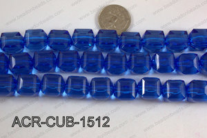 Acrylic Cube Plat Surface Dark Blue 15mm ACR-CUB-1512