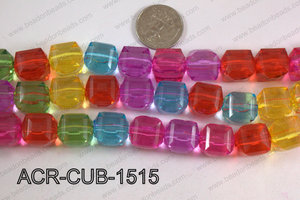 Acrylic Cube Plat Surface Multicolor 15mm ACR-CUB-1515
