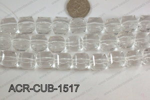 Acrylic Cube Plat Surface Clear 15mm ACR-CUB-1517