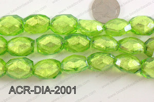 Acrylic Diamond Foil Rectangle Nugget Green 16x20x12mm ACR-DIA-2