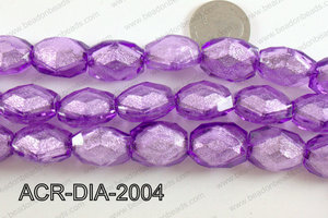 Acrylic Diamond Foil Rectangle Nugget Purple 16x20x12mm ACR-DIA-