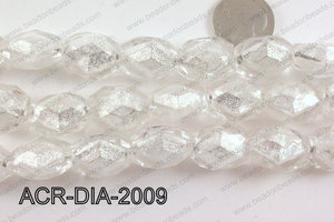 Acrylic Diamond Foil Rectangle Nugget White 16x20x12mm ACR-DIA-2