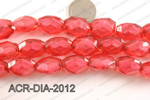 Acrylic Diamond Foil Rectangle Nugget Red 16x20x12mm ACR-DIA-201