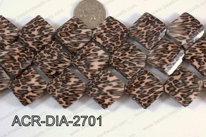 Acrylic Diamond Flat Brown 27mm ACR-DIA-2701