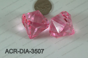 Acrylic Diamond Hot Pink 35mm ACR-DIA-3507