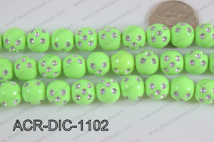 Acrylic Dice Round 11mm green ACR-DIC-1102