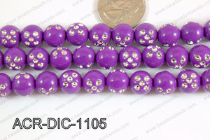 Acrylic Dice Round 11mm purple ACR-DIC-1105