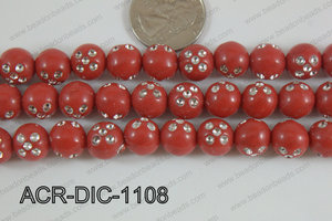 Acrylic Dice Round 11mm red ACR-DIC-1108