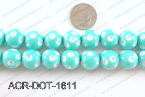 Acrylic Dot Gumball Mint 16mm ACR-DOT-1611