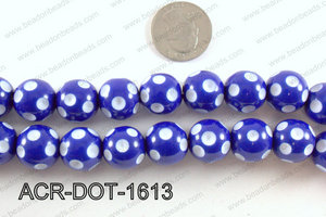 Acrylic Dot Gumball Dark Blue 16mm ACR-DOT-1613