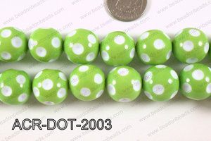 Acrylic Dotted Round Green 20mm ACR-DOT-2003