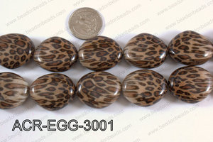 Acrylic Egg irregular 25x30mm ACR-EGG-3001