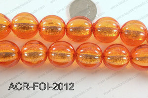 Acrylic Foil Round Orange 20mm ACR-FOI-2012