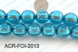 Acrylic Foil Round Turquoise 20mm ACR-FOI-2013