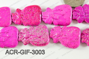 Acrylic Gift 21x30mm hot pink ACR-GIF-3003