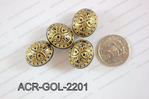 Acrylic Bead Oval 300g 22mm ACR-GOL-2201