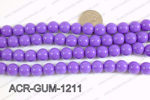Acrylic Gumball beads light purple 12mm ACR-GUM-1211
