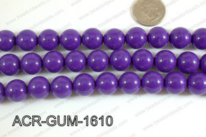 Acrylic Gumball beads purple 16mm ACR-GUM-1610