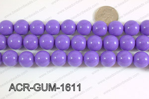 Acrylic Gumball beads light purple 16mm ACR-GUM-1611