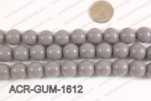 Acrylic Gumball beads grey 16mm ACR-GUM-1612