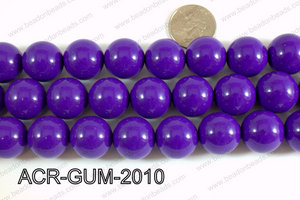Acrylic Gumball beads Purple  20mm ACR-GUM-2010