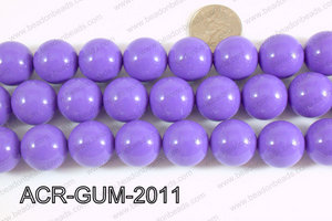 Acrylic Gumball beads Light purple 20mm ACR-GUM-2011