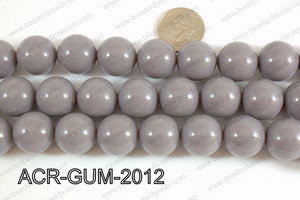 Acrylic Gumball beads Grey 20mm ACR-GUM-2012