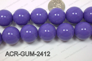 Acrylic Gumball Round Dark Purple 24mm ACR-GUM-2412