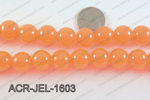 Acrylic Jelly Gumball Orange 16mm ACR-JEL-1603