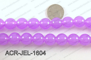 Acrylic Jelly Gumball Purple 16mm ACR-JEL-1604