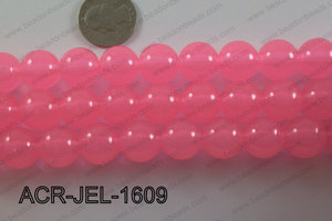 Acrylic Jelly Gumball Round 16mm, Light Pink ACR-JEL-1609