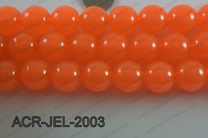Acrylic Jelly Gumball Round, Orange 20mm ACR-JEL-2003
