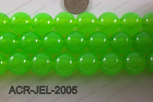 Acrylic Jelly Gumball Round, Lime 20mm ACR-JEL-2005