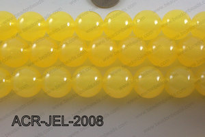 Acrylic Jelly Gumball Round, Yellow 20mm ACR-JEL-2008
