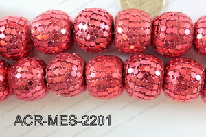 Acrylic Mesh beads 22mm ACR-MES-2201