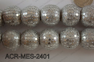 Acrylic Mesh beads 24mm ACR-MES-2401