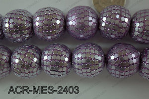 Acrylic Mesh beads 24mm ACR-MES-2403