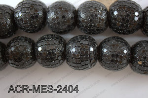Acrylic Mesh beads 24mm ACR-MES-2404