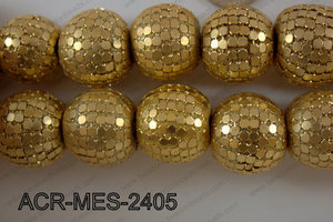 Acrylic Mesh beads 24mm ACR-MES-2405