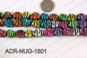 Acrylic Nugget Multicolor 15mm ACR-NUG-1501