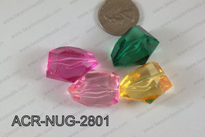 Acrylic Nugget Multicolor 28mm ACR-NUG-2801