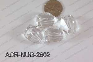 Acrylic Nugget Clear 28mm ACR-NUG-2802