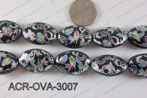 Acrylic Oval Black 30x20mm ACR-OVA-3007
