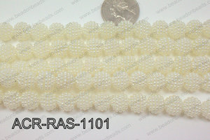Acrylic Raspberry round Cream 11mm ACR-RAS-1101