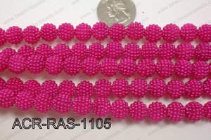 Acrylic Raspberry round Hot Pink 11mm ACR-RAS-1105