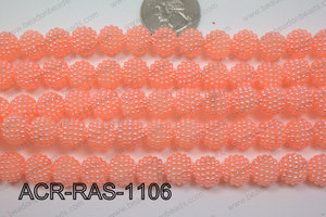 Acrylic Raspberry round Peach 11mm ACR-RAS-1106