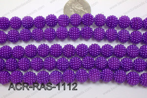 Acrylic Raspberry round Purple 11mm ACR-RAS-1112
